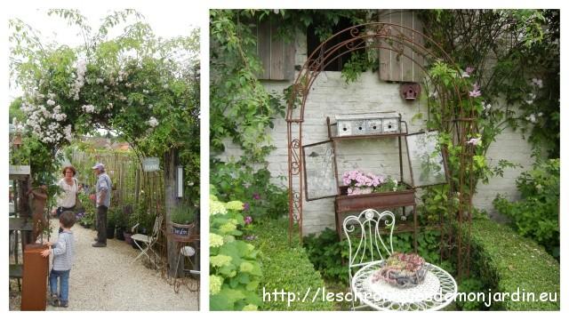 Supports pour rosiers en fer forg les chroniques de mon jardin - Arche pour rosier grimpant ...