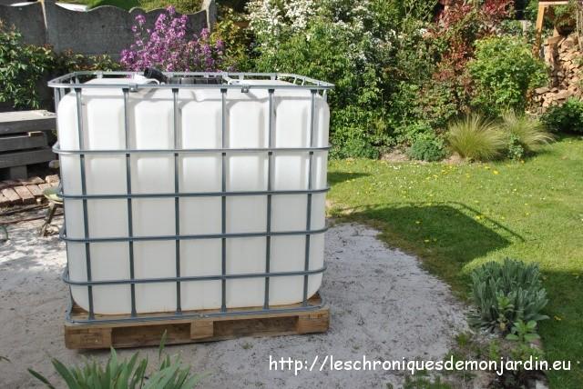 Nouvelle cuve pour r colter l eau de pluie les - Recuperer l eau de pluie pour le jardin ...