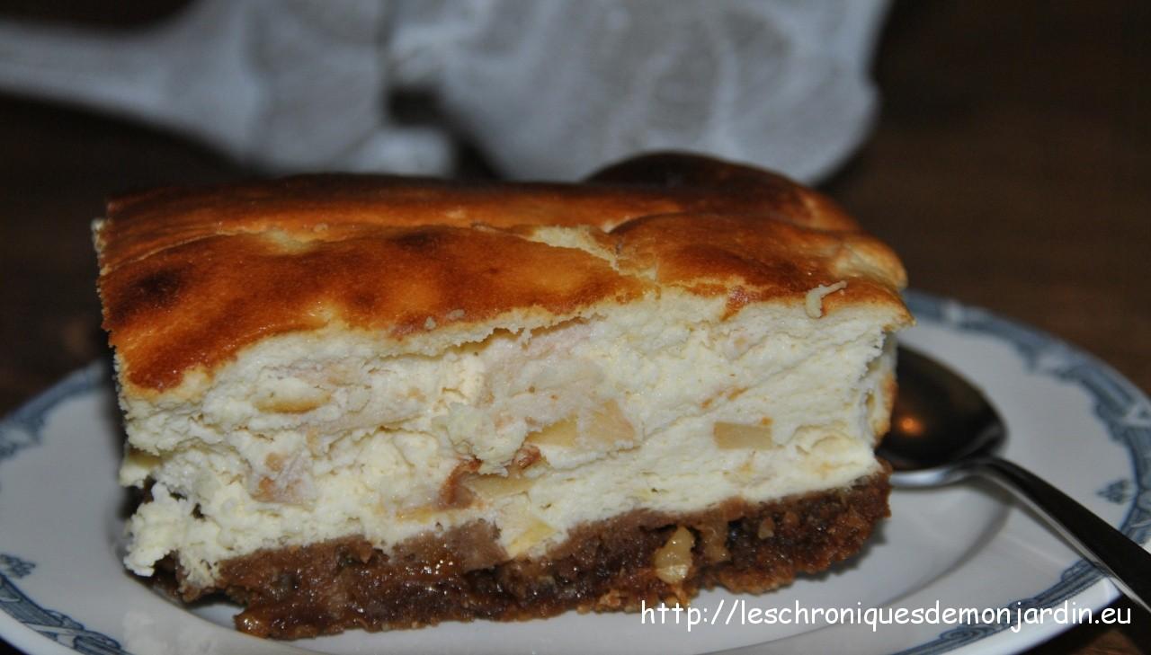 Tarte au fromage frais et aux poires